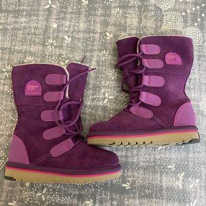 Sorel girls purple boots